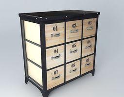 CD furniture Docks Maisons du monde 3D Model