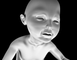 3D printable model PRINT READY BABY SEATED 3