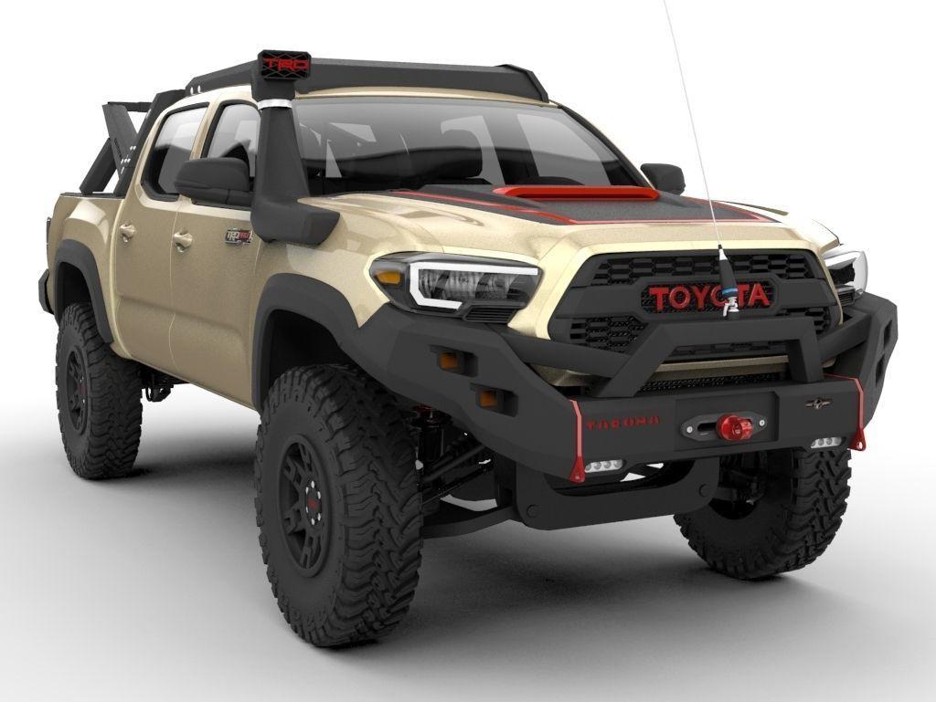 3D Toyota Tacoma TRD PRO 2020 Ecotenche Edition   CGTrader