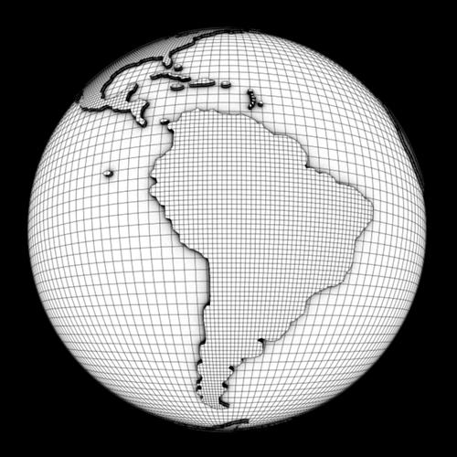 World Globe 3d Model Obj Ma Mb Cgtrader Com