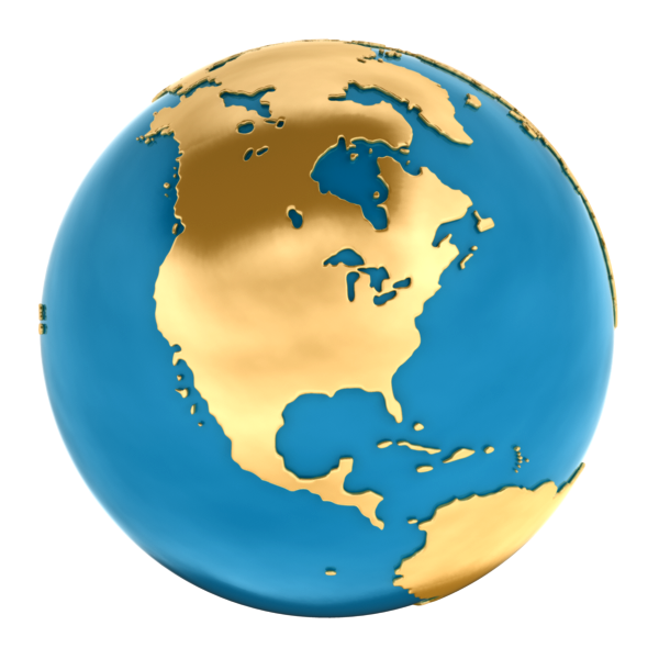 World Globe 3D Model OBJ MA MB - CGTrader.com