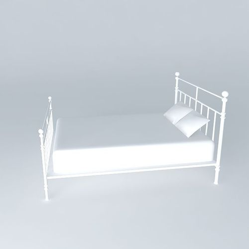 syracuse bed maisons du monde 3d model max obj 3ds fbx stl dae. Black Bedroom Furniture Sets. Home Design Ideas