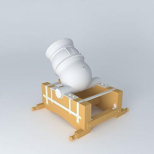 spanish mortar 1747 3d model max obj mtl 3ds fbx stl dae 1