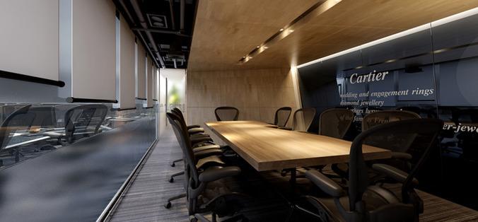 Modern Conference Room 3d Model Cgtrader