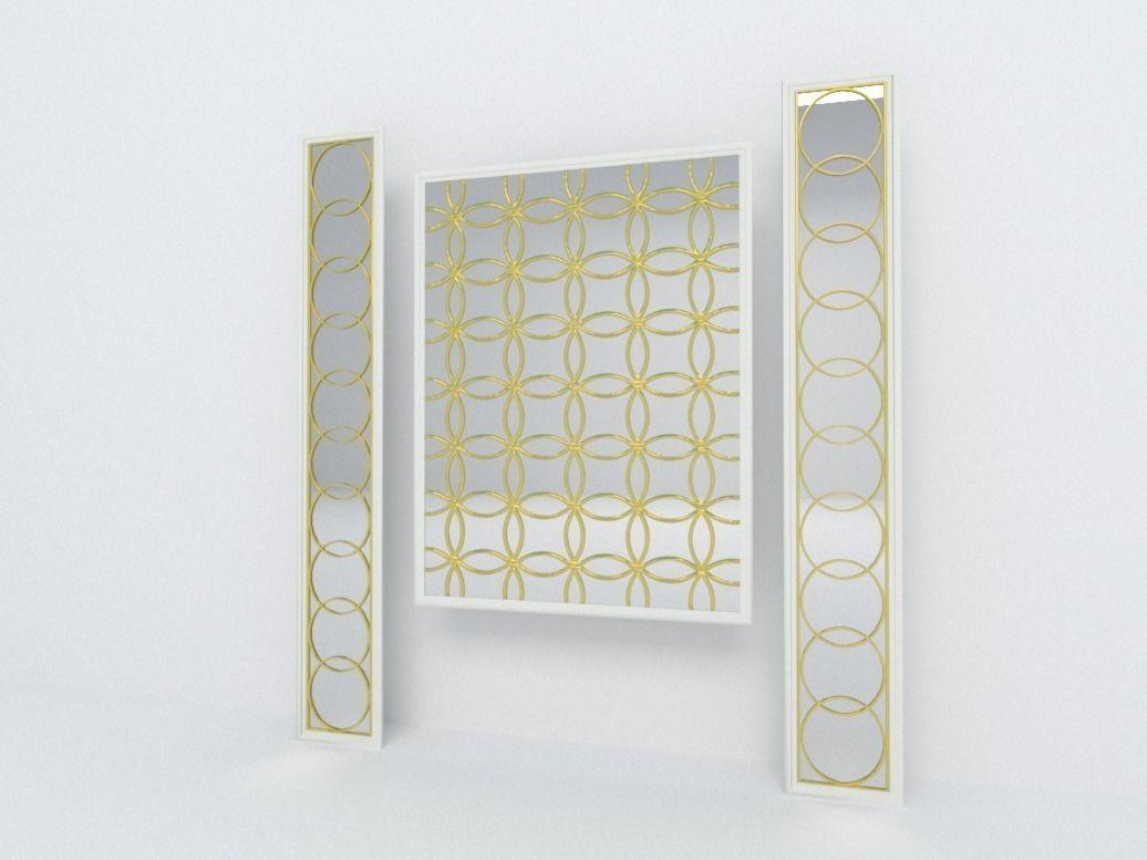 Decorative mirror panel