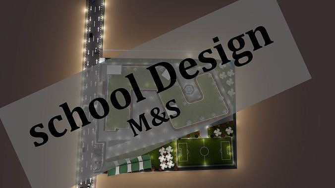 school design 3d model  3d model dwg skp 1