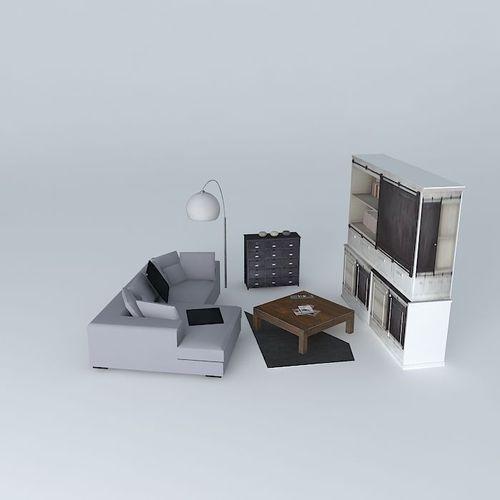 Lounge maisons du monde 3d model max obj 3ds fbx stl for Maison du monde job