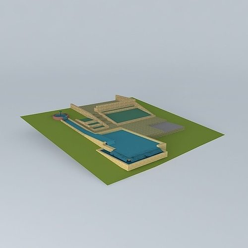 3d model natural pool design cgtrader for 3d pool design online free