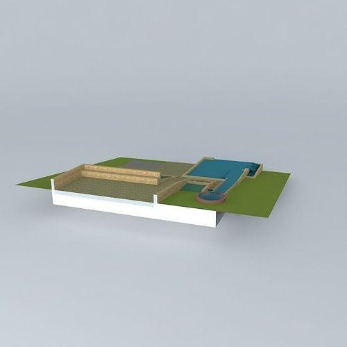 Natural pool design free 3d model max obj 3ds fbx stl for 3d pool design online free