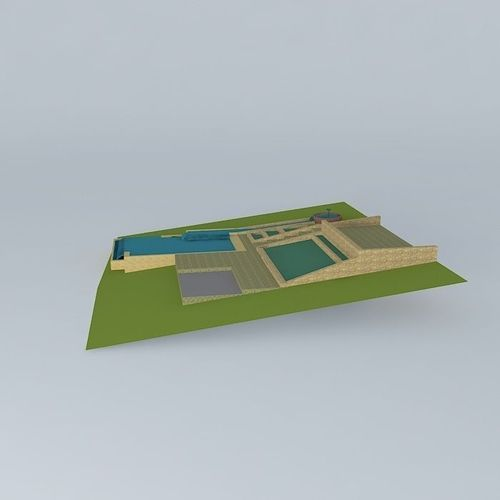 Natural pool design free 3d model max obj 3ds fbx stl dae for 3d pool design online free