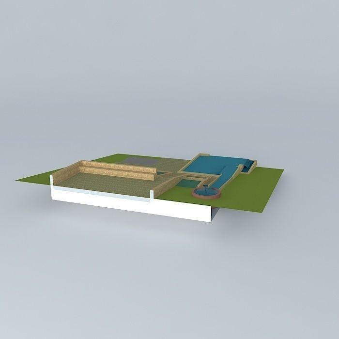 Natural pool design free 3d model max obj 3ds fbx stl for 3d pool design free