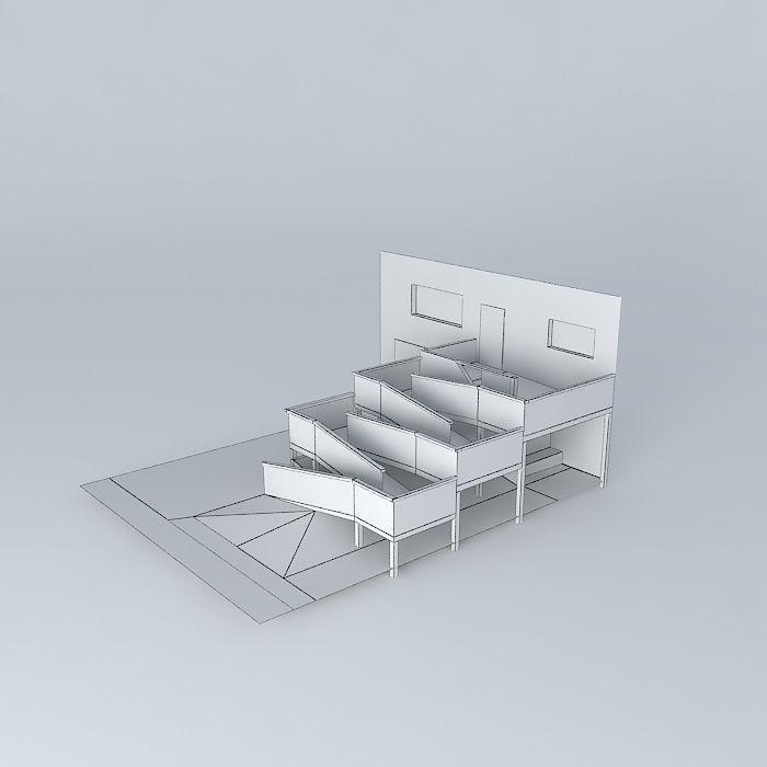 Ada Compliant Wheelchair Ramp Design 3d Model Max Obj Mtl 3ds Fbx Stl Dae 5