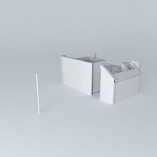 Overhead View Bathroom Design Free 3d Model Max Obj 3ds
