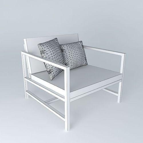 Ithaca chair maisons du monde 3d model max obj 3ds fbx - Rocking chair maison du monde ...