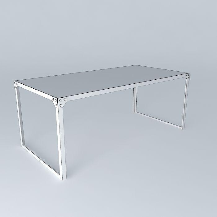 Dining Table Docks Maisons du monde 3D model MAX OBJ 3DS FBX STL DAE