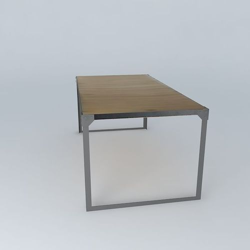Dining table docks maisons du monde 3d model max obj 3ds - Table clic clac maison du monde ...