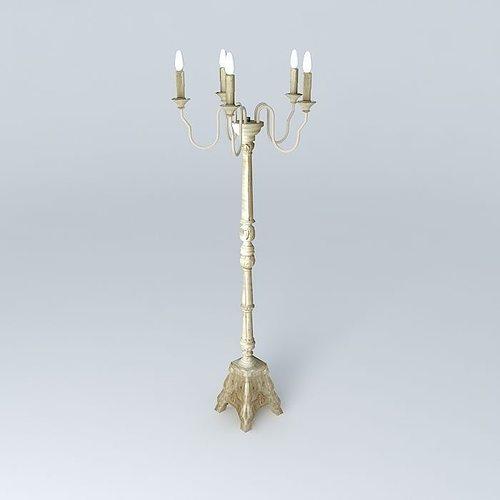 eglantine candlestick 3d model max obj mtl 3ds fbx stl dae 1