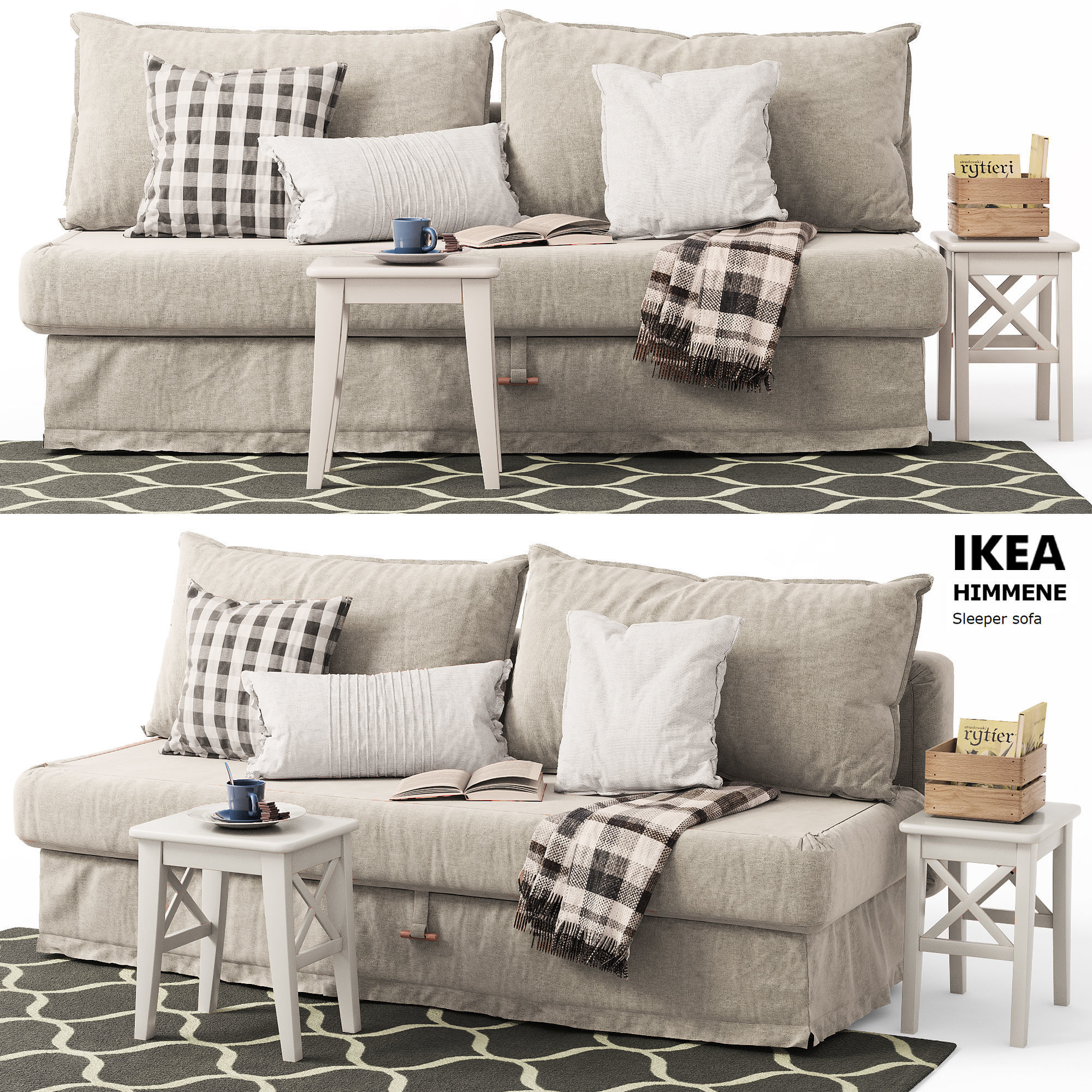 designer fashion 1bf1a 6a033 Sleeper sofa HIMMENE Ikea   3D model