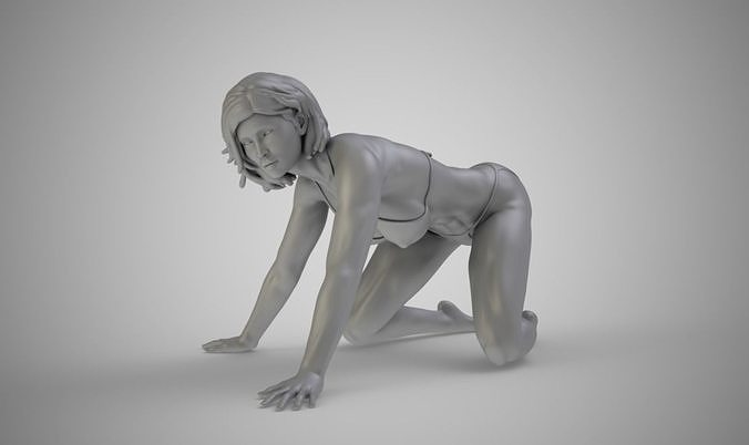Beauty Woman Crawling