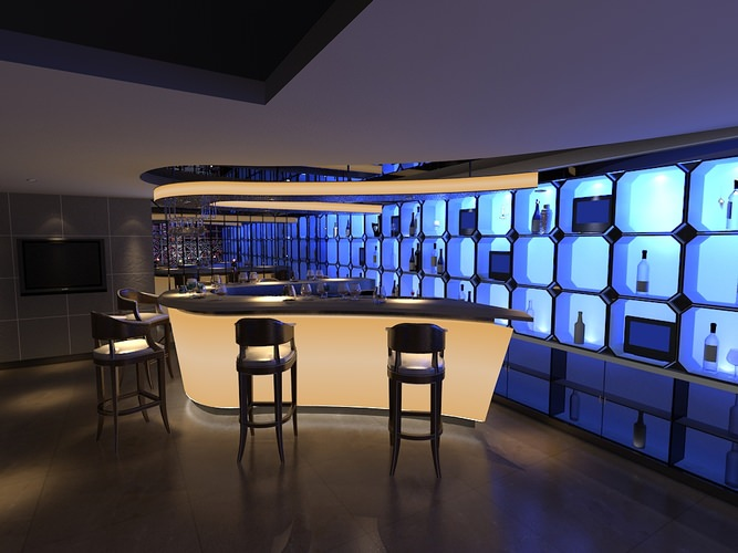 Nightclub lounge collection 3d model max for Food bar 3d model