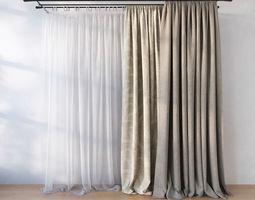 3D model Curtain curtains
