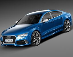 Audi RS7 Sportback performance 2016 3D Model