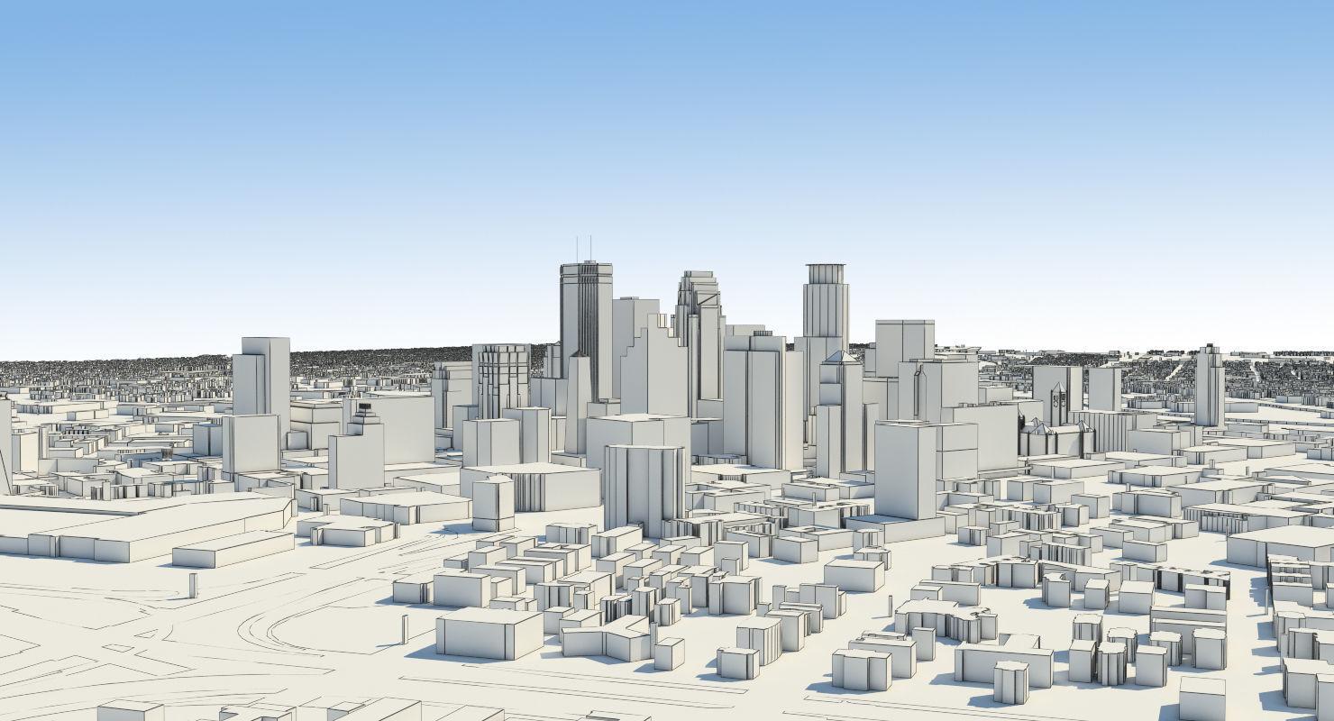Minneapolis Full City   3D model