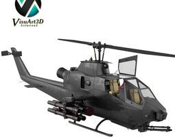 Helicopter Bell AH1 Cobra 3D Model
