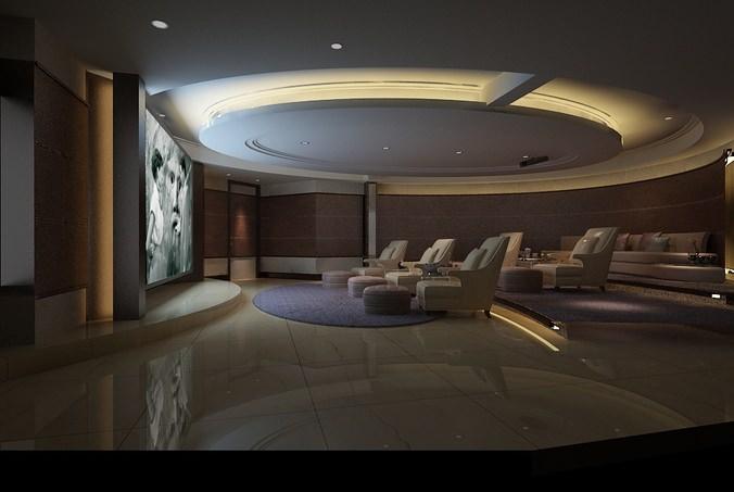 3d Model Home Theatre Amp Amp Lounge Spa