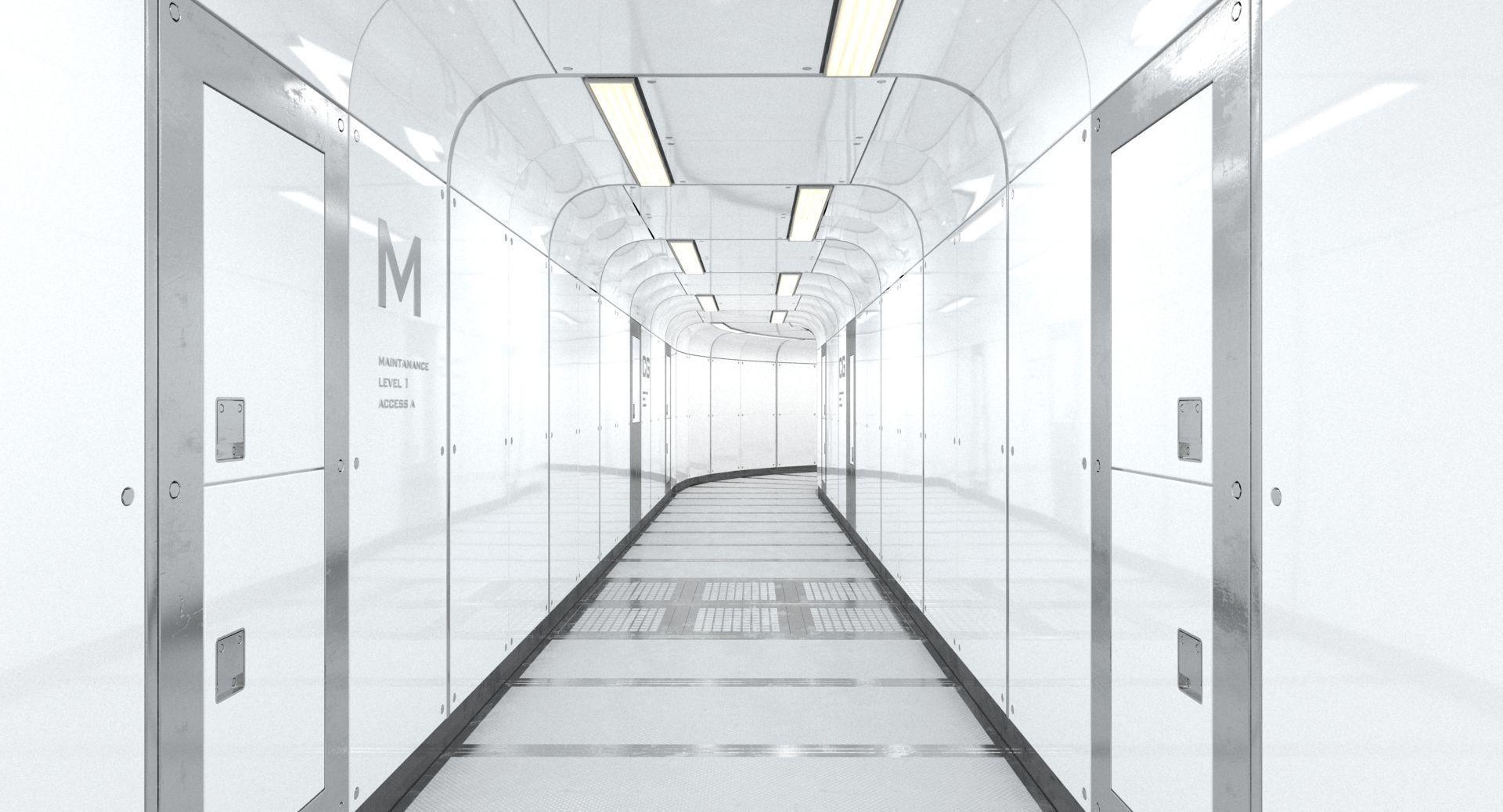Spacecraft Corridor White