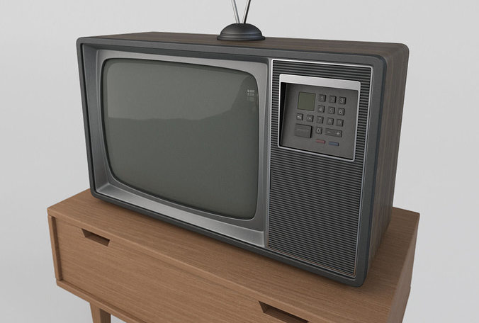 old retro tv 3d model