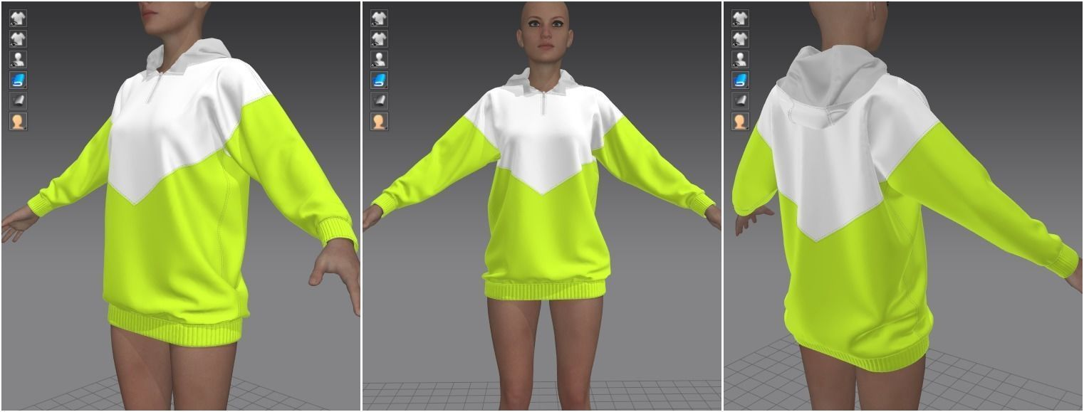 Marvelous Designer Garment - Light Green Sweater