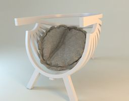 3D Round chair with cushion