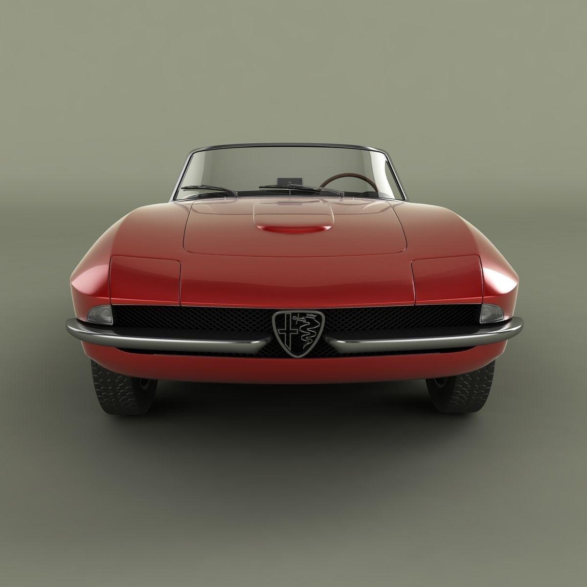 Alfa Romeo 2600 Cabriolet Speciale 3D Model .max .obj .3ds
