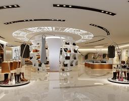 Bright women clothes shop 3D
