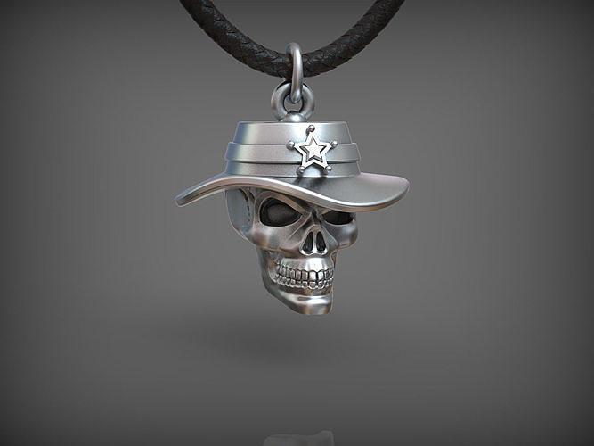 Pendant Skull 03