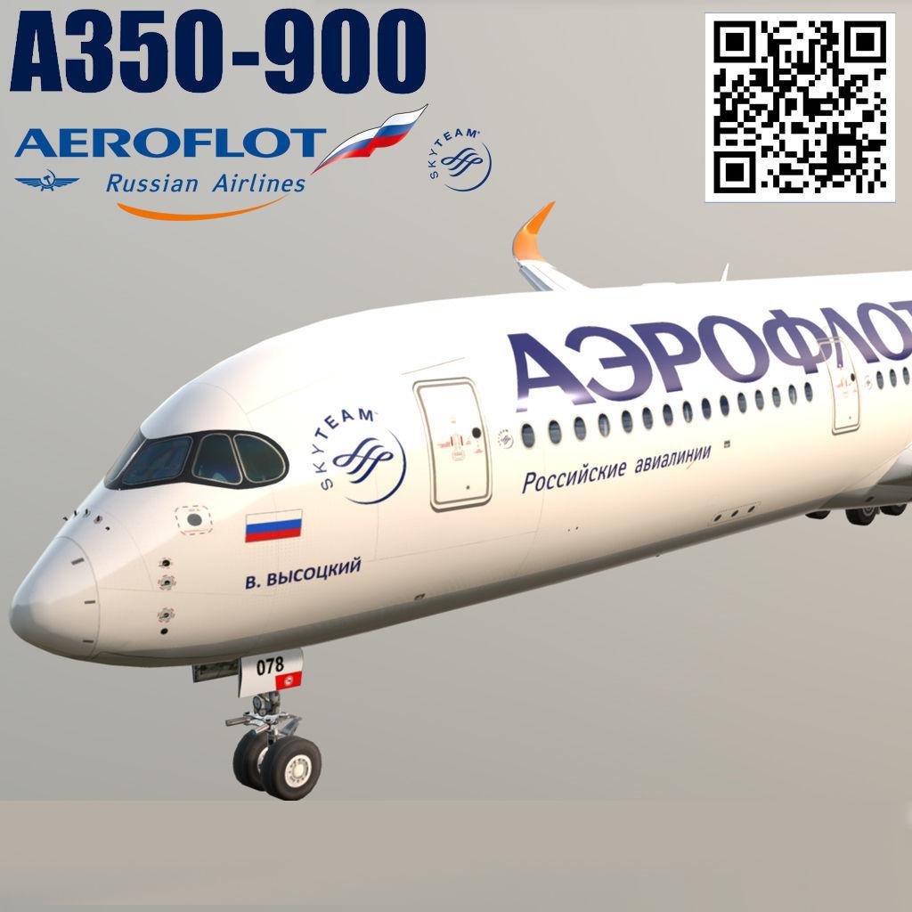 Airbus A350-900 Aeroflot livery