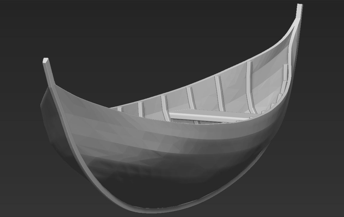 Elven Boat from Lothlorien Lord of the Rings stl obj