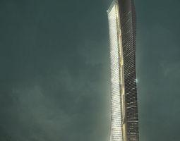3d city hotel office building  32