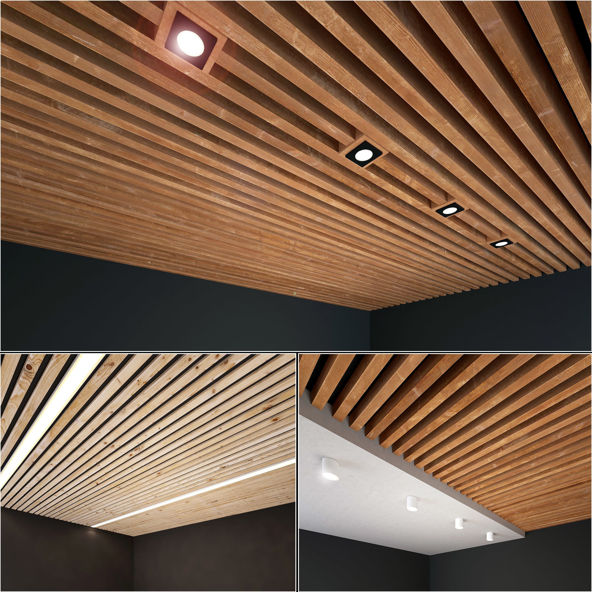 Wooden Ceiling Set 5 3D | CGTrader