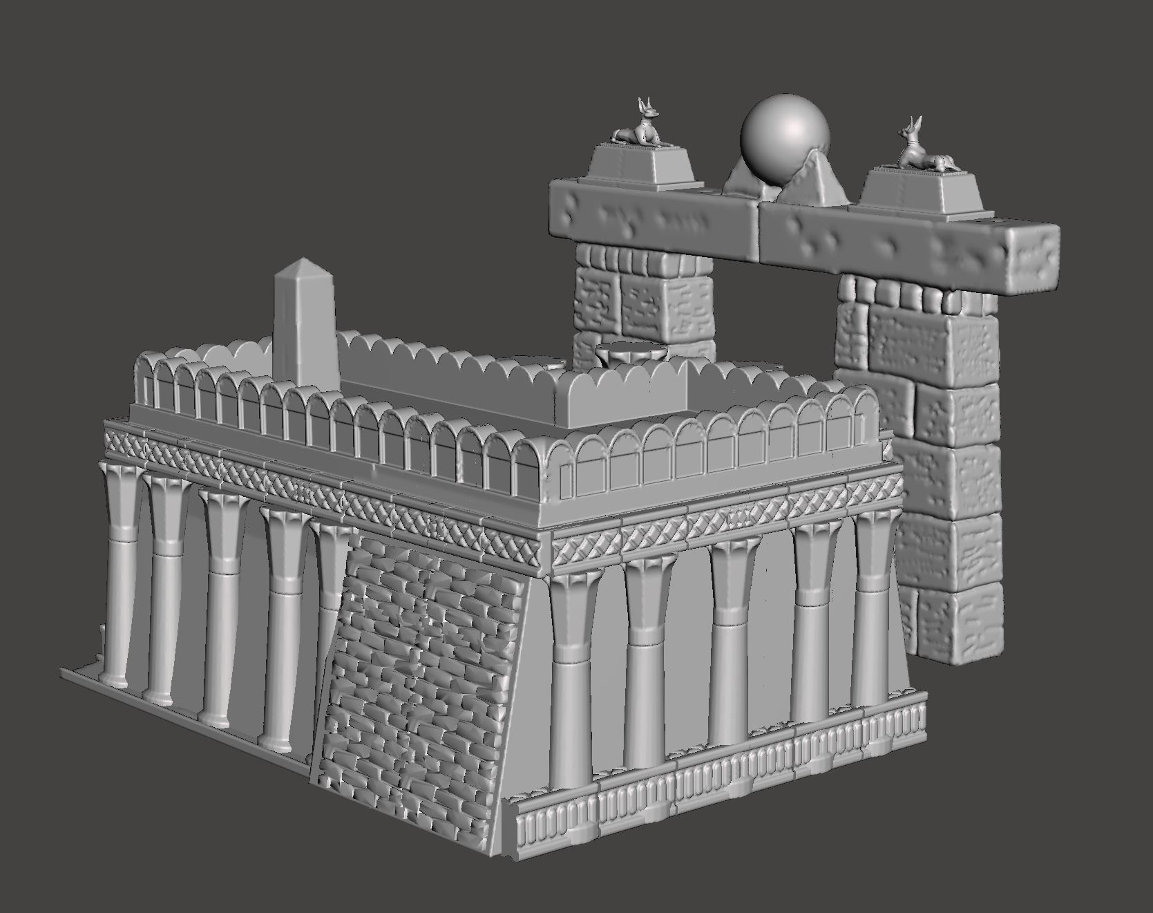 Egyptian Temple | 3D Print Model