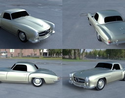 3D model Mercedes 190SL Hard Top