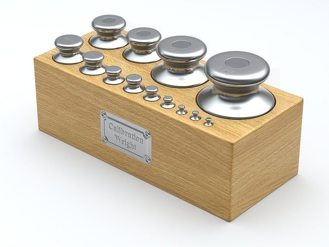 calibration weight set 3d model obj mtl fbx blend 1