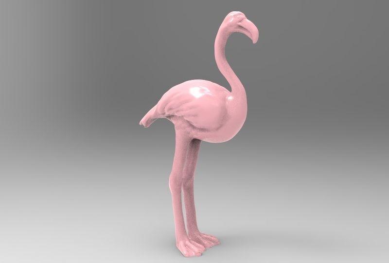 photograph relating to Flamingo Printable titled Flamingo Printable 3D Print Style
