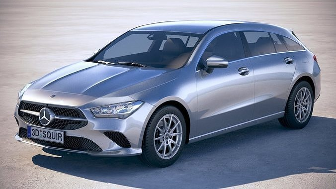 mercedes-benz cla shooting brake basic 2020 3d model max obj mtl 3ds fbx c4d lwo lw lws 1