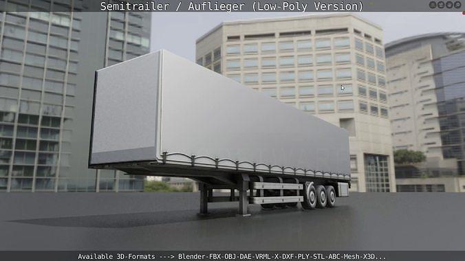 Semitrailer - Auflieger - Low-Poly Version