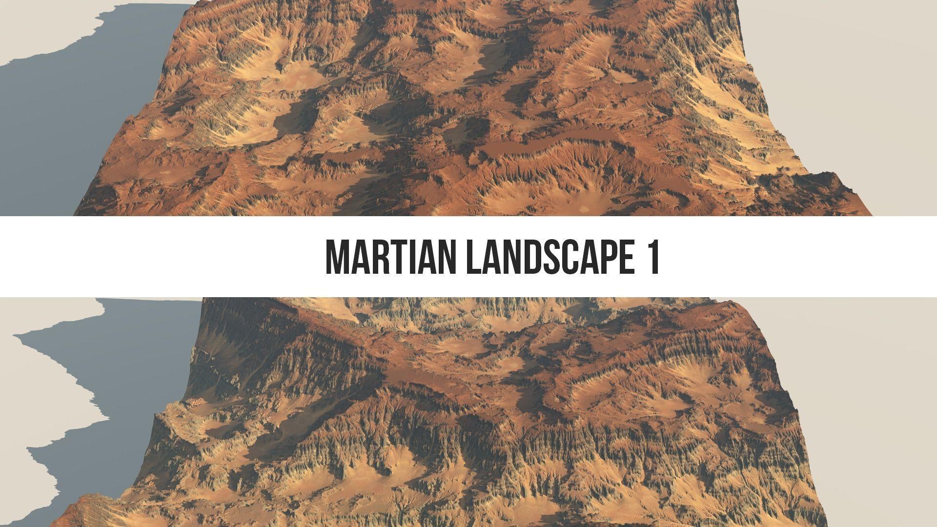 Martian Landscape 8k Heightmap Pack   Texture