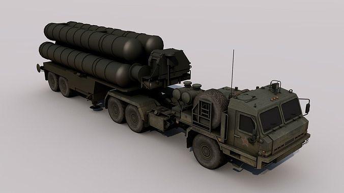 s-400 triumf  3d model obj mtl 3ds fbx c4d dae 1