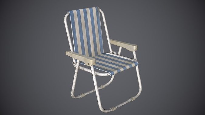 chair folding 3d model max obj mtl fbx tga 1