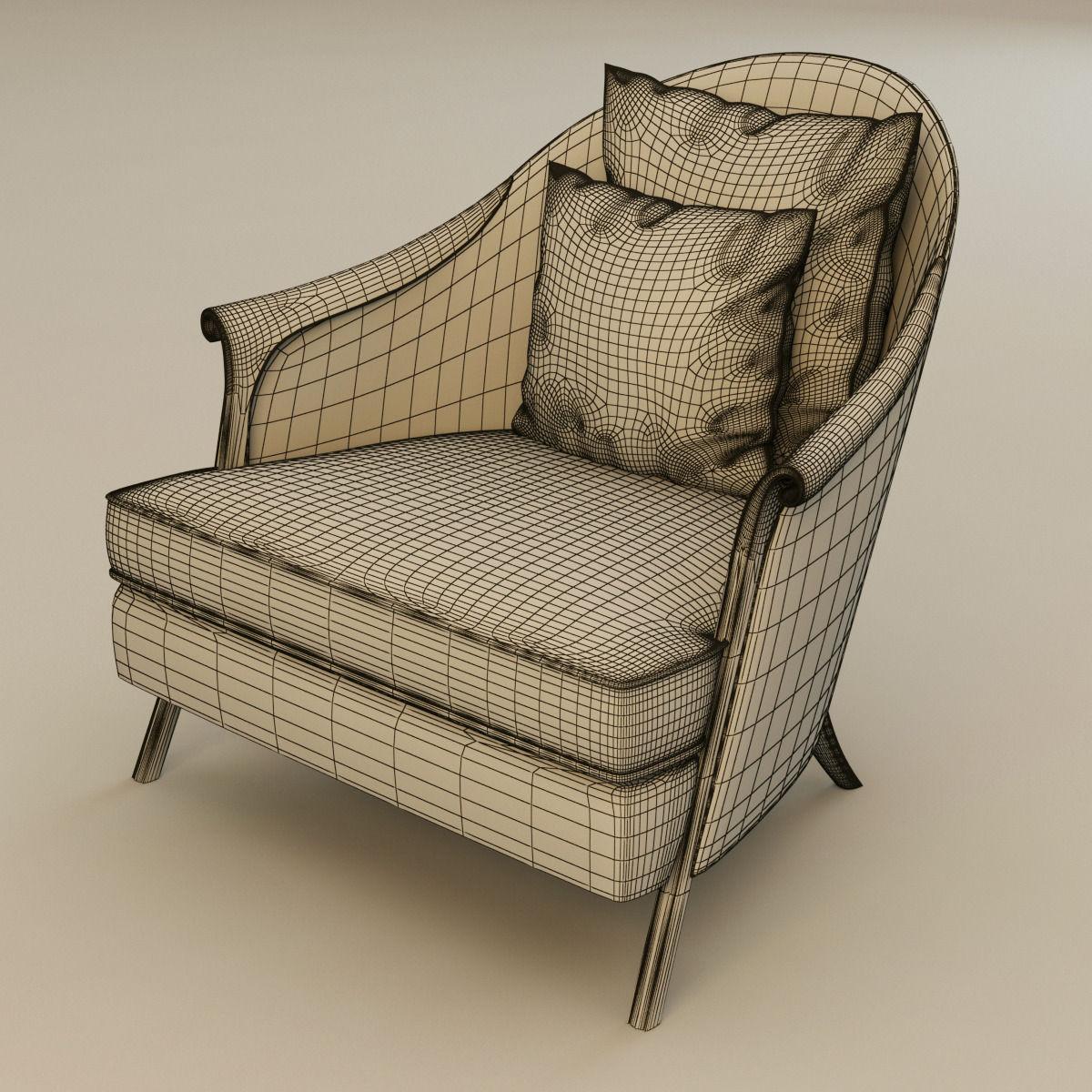 Christopher Guy Furniture Christopher Guy Poltrona Armchair 3d Model Max Obj 3ds Fbx Mtl
